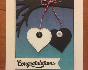 wedding card / anniversay / engagement / hearts / tree /modern