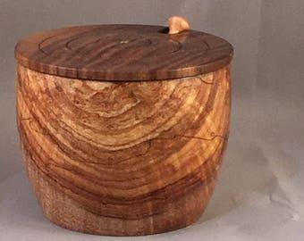 Wood Salt Cellar Set/Salt Box Set/Lidded Bowl & Wooden salt cellar | Etsy