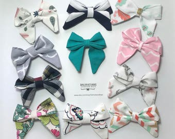 Choose Your Color Twist Sailor Bow!  Many colors and patterns available- FREE SHIPPING!!