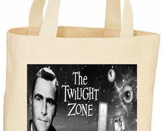 Custom Vintage style The Twilight Zone tote bag