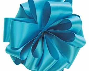 "Satin Ribbon 2 1/4"" Venetian Blue Double Sided - TEN YARD ROLL -  Offray  Satin No. 16 Blue #345 Double Sided , Wedding Ribbon, Sewing Trim"