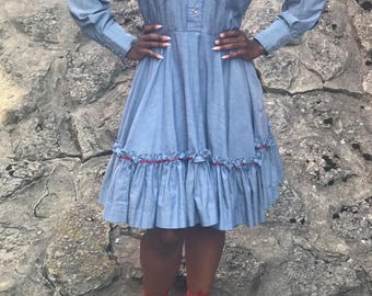 Hear C Vintage Country Dress