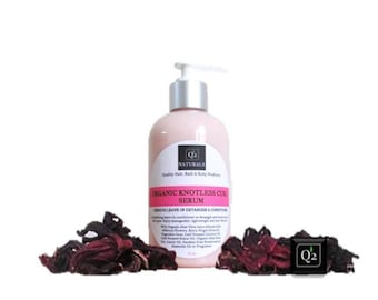 Hibiscus Leave-in Detangler and Conditioner For All Natural Hair|Organic Knotless Curl Serum|Frizz Control Serum| Kukui Oil|Softens