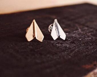 Paper Airplane Enamel Pin