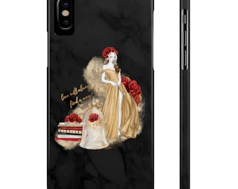 Black Marble Beauty and The Beast Phone Case, iPhone 5c/5s/5se Case, iPhone 6/6s/6s Slim Case, Samsung Galaxy 5/6/7/8 Phone Case, Belle Case