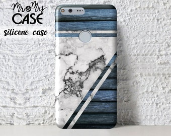 Google Pixel Xl-Blue wood&marble case for Google Pixel-OnePlus 5 phone case-cover for OnePlus-cell cases-nexus phone covers-mobile cases
