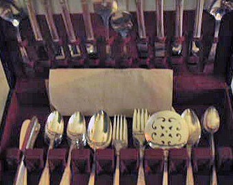 Simeon L & George H Rogers silver plated flatware, Countess