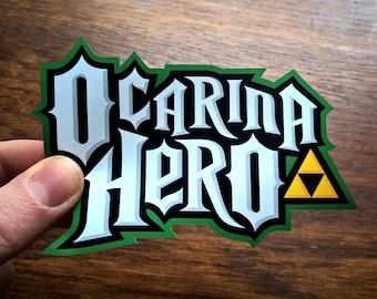 Ocarina Hero - Legend of Zelda / Guitar Hero - Vinyl Sticker