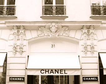 Chanel Store 31 Rue Cambon Paris, France Photography, Paris Decor, Art Print