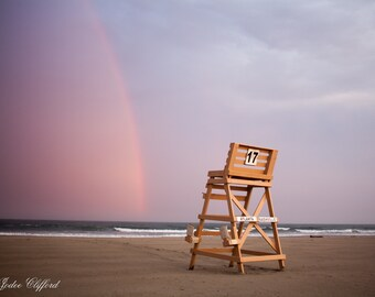 Beach rainbow at Wildwood Crest lifeguard stand number 17 12x12  | Lucky Star Dreams photography, Jersey Shore Photography, Rainbow Photo