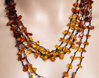 Expressive Baltic Amber Necklace