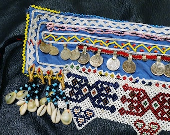 Afghani Beaded Belt, Handmade, Vintage, Fabulous Body Jewelry, Boho Chic