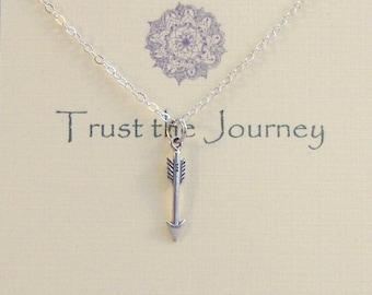 Trust The Journey,Arrow,Arrow Necklace,Arrowhead Necklace,Journey,Journey Necklace,Quote ,Inspiration,Home,Directioin, Inspriational Jewelry