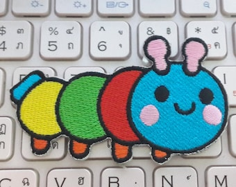 Caterpillar Iron on patch - Worm Applique Embroidered Iron on Patch