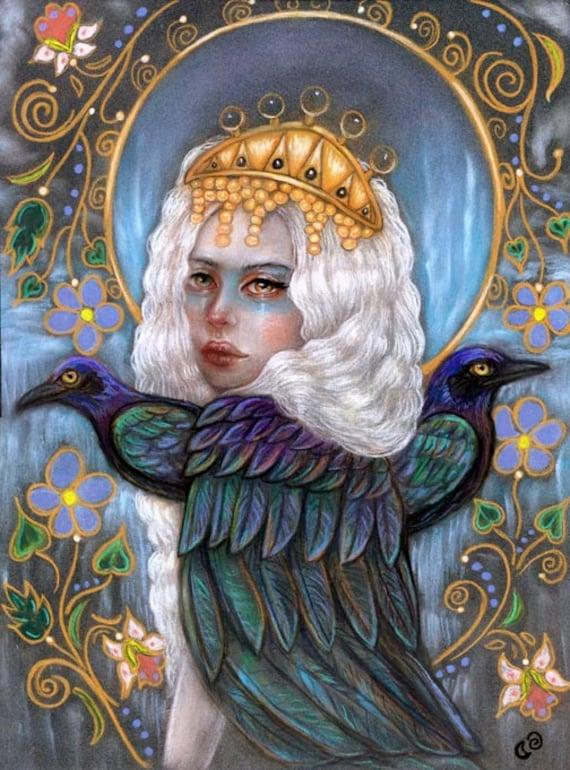 Zaria Slavic Goddess Harpy 8x10 Fine Art Print