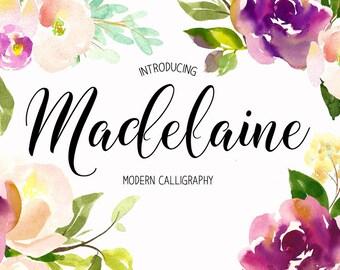 Handwritten font Font download Calligraphy font Font instant download Digital font Handwritten font Wedding font Hand lettered font