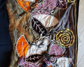 PaintMagpie...Sews! Handmade Embroidered Light Hood/ Snood