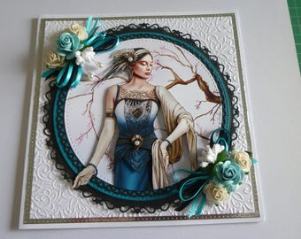 Ladies Art Deco Card