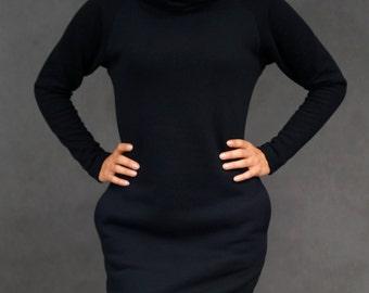 Sweatshirt dress cowl neck