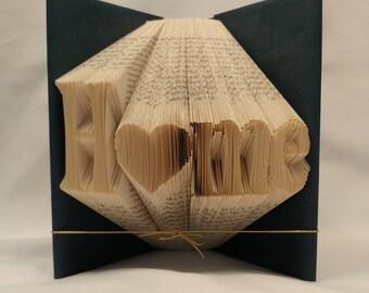 Home, Shadow Book, Folded book art