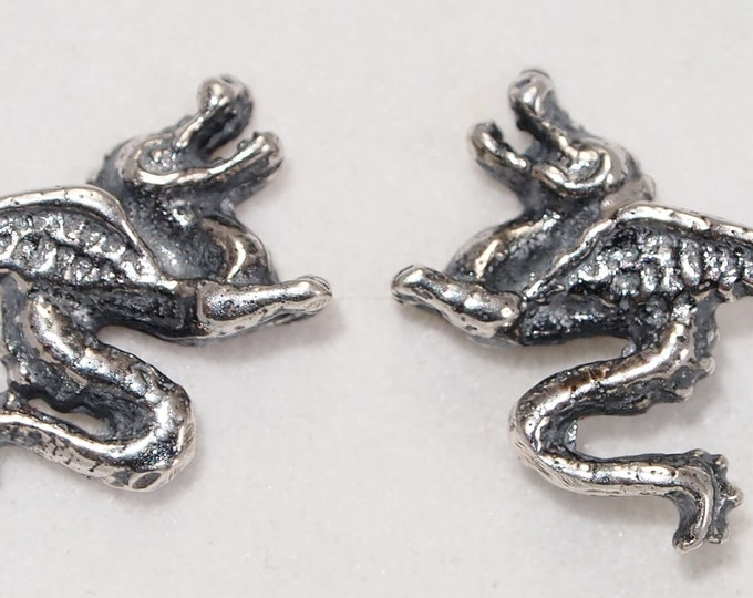 Dragon Stud Earrings made in gold on order