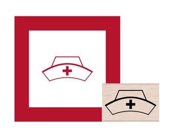 Nurse Hat Rubber Stamp