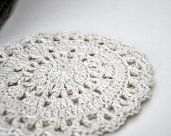 Cotton Doily Dishcloths Neutral Home Decor Cottage Style
