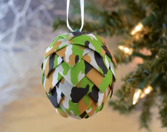 Camouflage Christmas Ornament for Dad Redneck Ornament Perfect for Hunting enthusiast Outdoorsman or Little boys who like playing army men