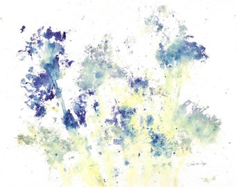 11 x 14 Giclee Print Spring Flowers (Abstract) - Clearance