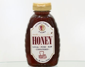 Pure Raw Unfiltered Honey 16oz Bottle