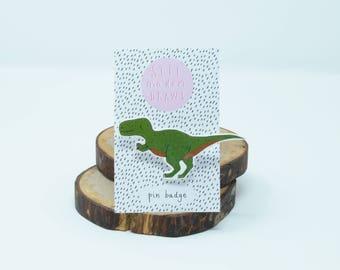 Tyrannosaurus Rex Dinosaur brooch/pin badge