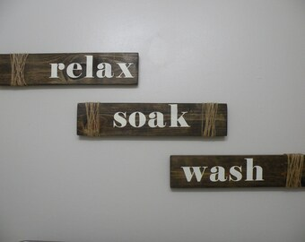 Set of 3 bathroom signs