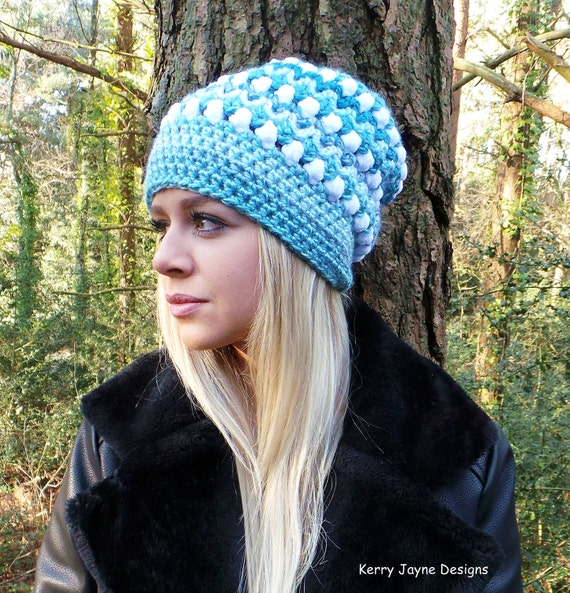 Sky Fall Crochet Hat Pattern Slouch Hat Pattern Womens Hat