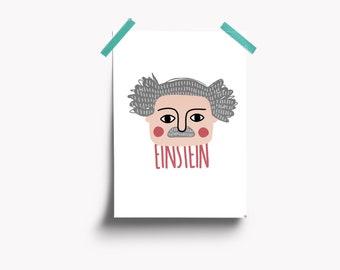 Albert Einstein illustration