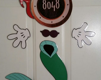 Princess Ariel Mermaid Minnie Mouse Body Part Stateroom Door Magnets for Disney Cruise