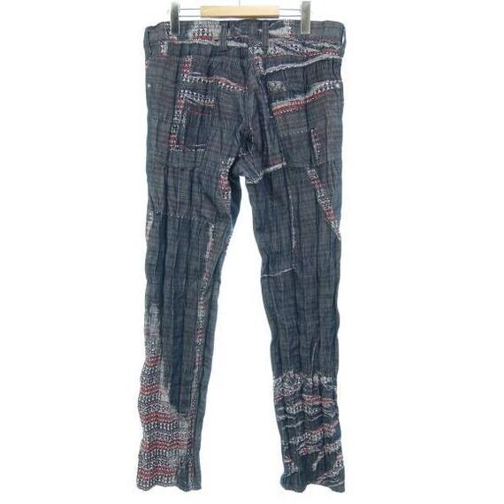 Distressed Fly Button Pants Navy Miyake Denim Bottom Issey Issey Miyake Men Pants Jeans Men nU7RqzqxPa