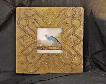 Hand Worked Shabby Sheik Vintage Brass Photo Frame