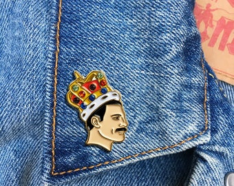 Freddie Mercury Pin, Soft Enamel Pin, Jewelry, Art, Gift, Stocking Stuffer, Queen, Music, LGBTQ (PIN119)