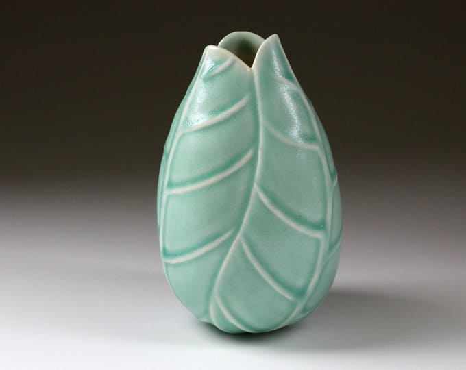 Blue-green Ephemeral Bud vase