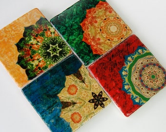 Rich Color stone coasters (set of 4) - immediate shipping