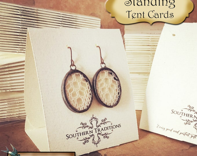 36•Free Standing•Tent Cards•EARRING CARDS•Jewelry Cards•Earring Display•Earring Card•Earring Holder•Necklace Card•Combo Card