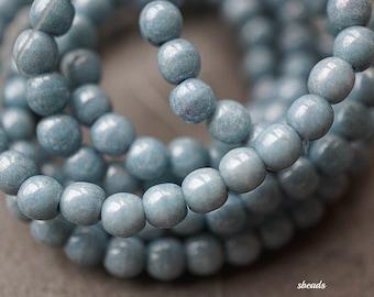 Denim Luster, Druk Beads, Czech Beads, N1723