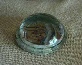 Vintage Glass Dome Desk Paper Weight Magnifier