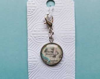 Tombstone Mountain Map Charm | Planner Charm | Yukon