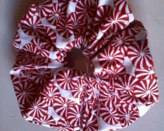 Hair scrunchie peppermints