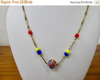 "ON SALE Vintage Venetian Glass ""Nothing Style"" Necklace Item K # 2510"