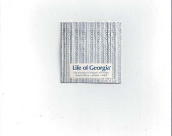 Vintage 1960s Life of Georgia Sewing Needle Book, 9 Needles with Threader, Vintage Advertising Hand Sewing Needles, Because You Love Them