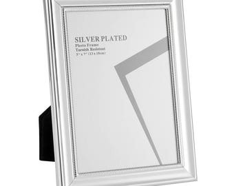 """Silver Plated Picture Frames, 5 x 7"""""""