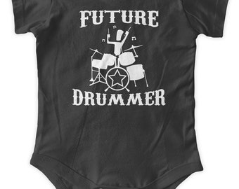 Future Drummer Baby One Piece Body Suit Baby Graphic Infant Clothing Baby Shower Gift Short Sleeve Bodysuit Romper