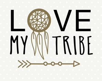 Tribal Vector Art, Family DXF, Love My Tribe SVG, Commercial cut file, SVG cut file, svg download for vinyl cutting machines